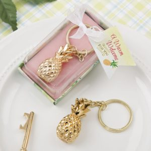 Warm Welcome Collection Gold Pineapple Sleutelhanger