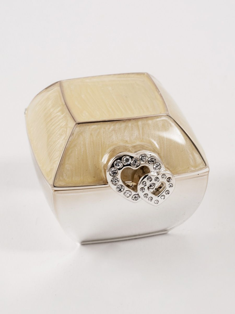 Zilver Dubbel Hart Design Ringendoosje