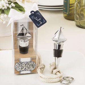 Zilveren Zeilboot Design Wijnstop