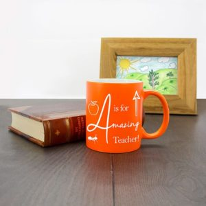 Koffiebeker 'A is for Amazing Teacher'