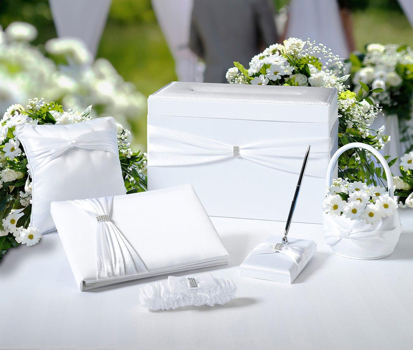 Bruiloft Collectie wit met Strass accenten