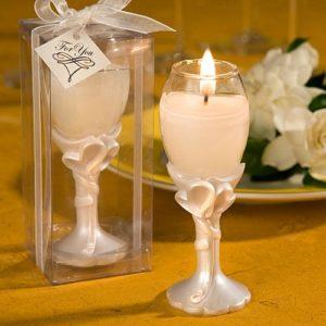 Hart thema Champagneglas bedankjes