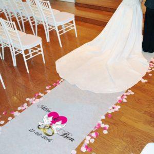 Gepersonaliseerde Loper Bruidsduiven