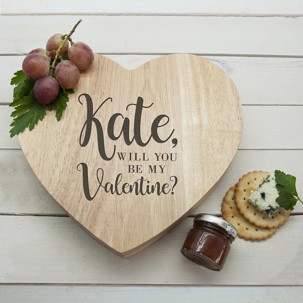 Kaasplank Hart Be My Valentine