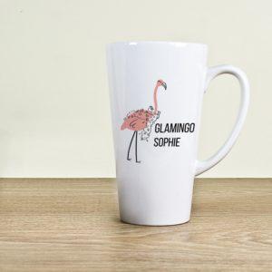 Latte-mok Glamingo Gepersonaliseerd