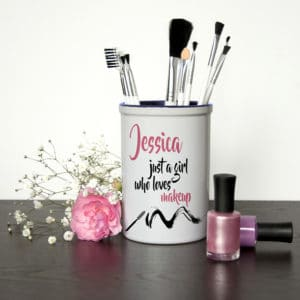 Gepersonaliseerde Penseelhouder Just A Girl Who Loves Makeup