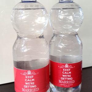 Keep Calm Waterflesjes Etiketten
