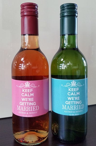 Keep Calm Wijnflesjes Etiketten