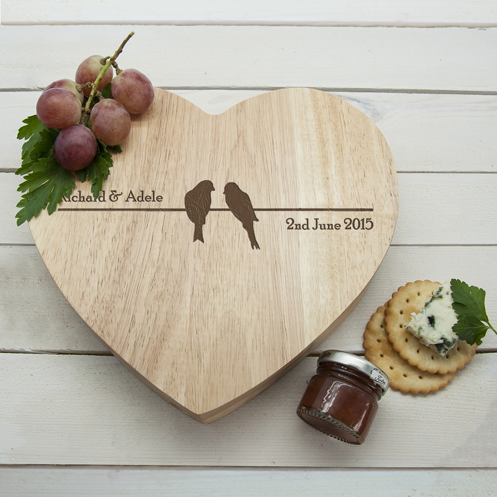 Gepersonaliseerde Kaasplank Love Birds