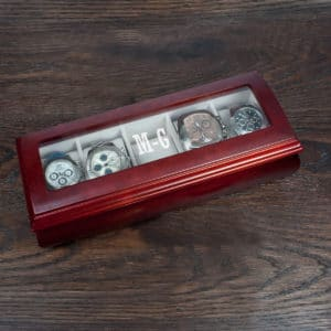 Houten Horlogedoos met Monogram