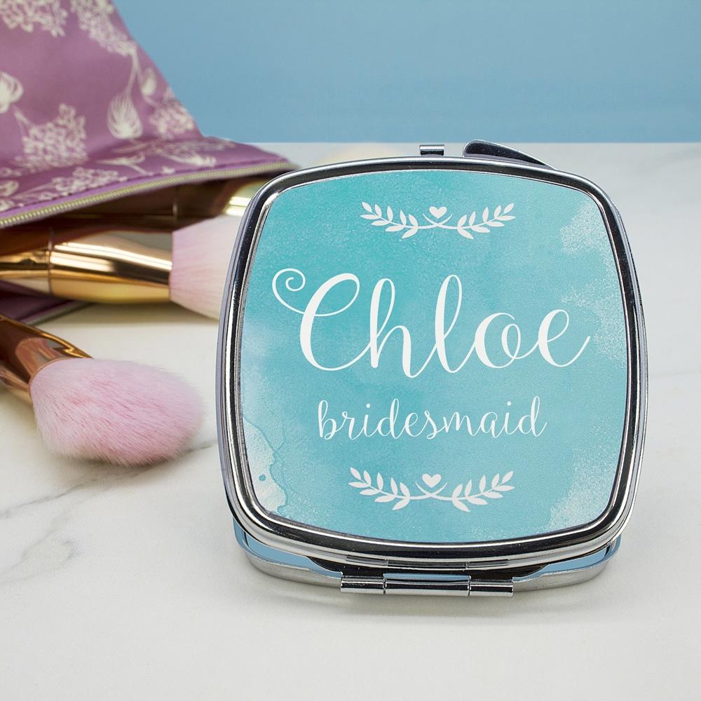 Wedding Glam Makeup Spiegeltje Gepersonaliseerd - Vierkant