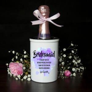 Miniatuur Champagne emmer Bridesmaid Gepersonaliseerd
