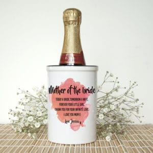 Miniatuur Champagne emmer Mother of the Bride Gepersonaliseerd