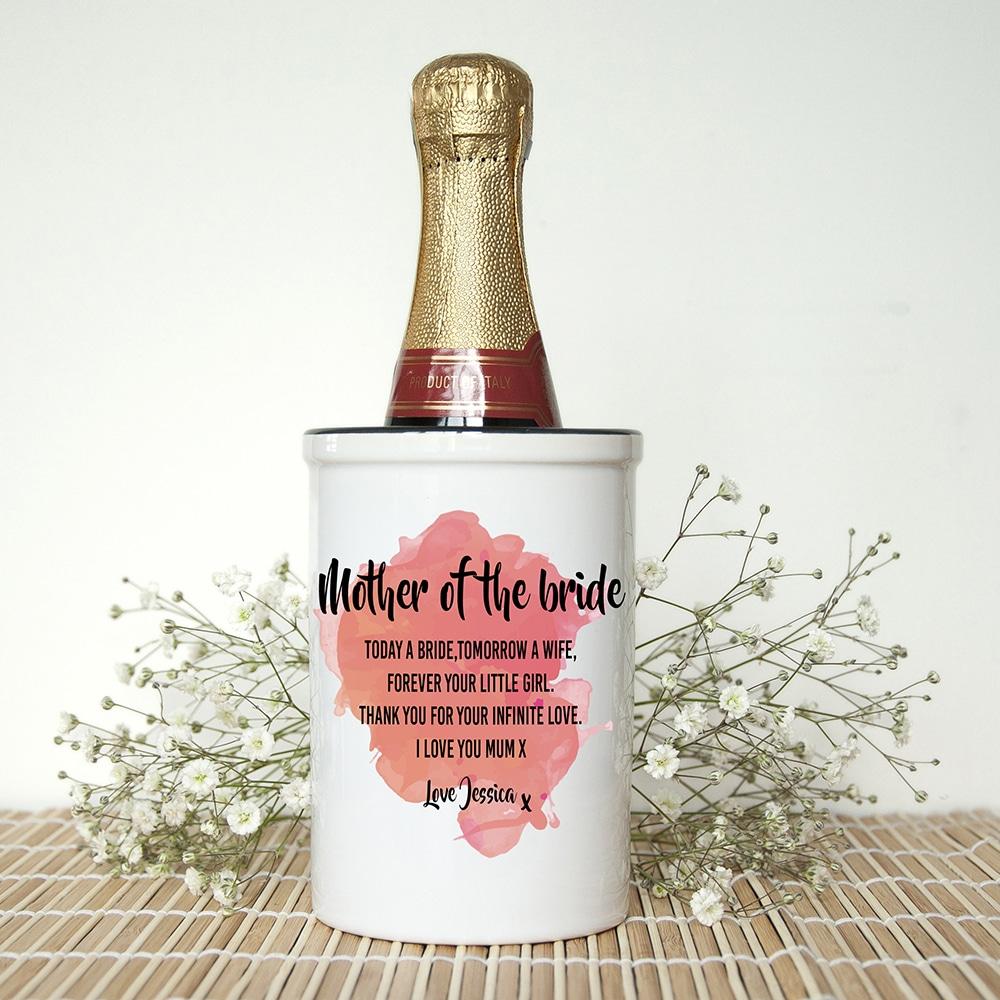 Miniatuur Champagne emmer Mother of the Bride Gepersonaliseerd