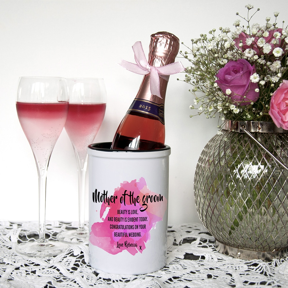 Miniatuur Champagne emmer Mother of the Groom