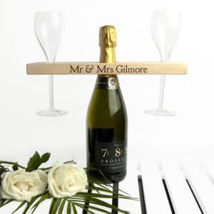 Houten Champagne houder Gepersonaliseerd