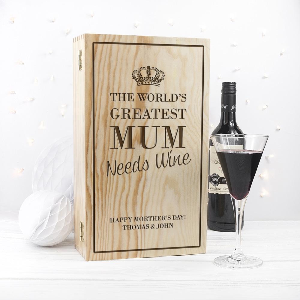 Gepersonaliseerde Wijnkist Moeder