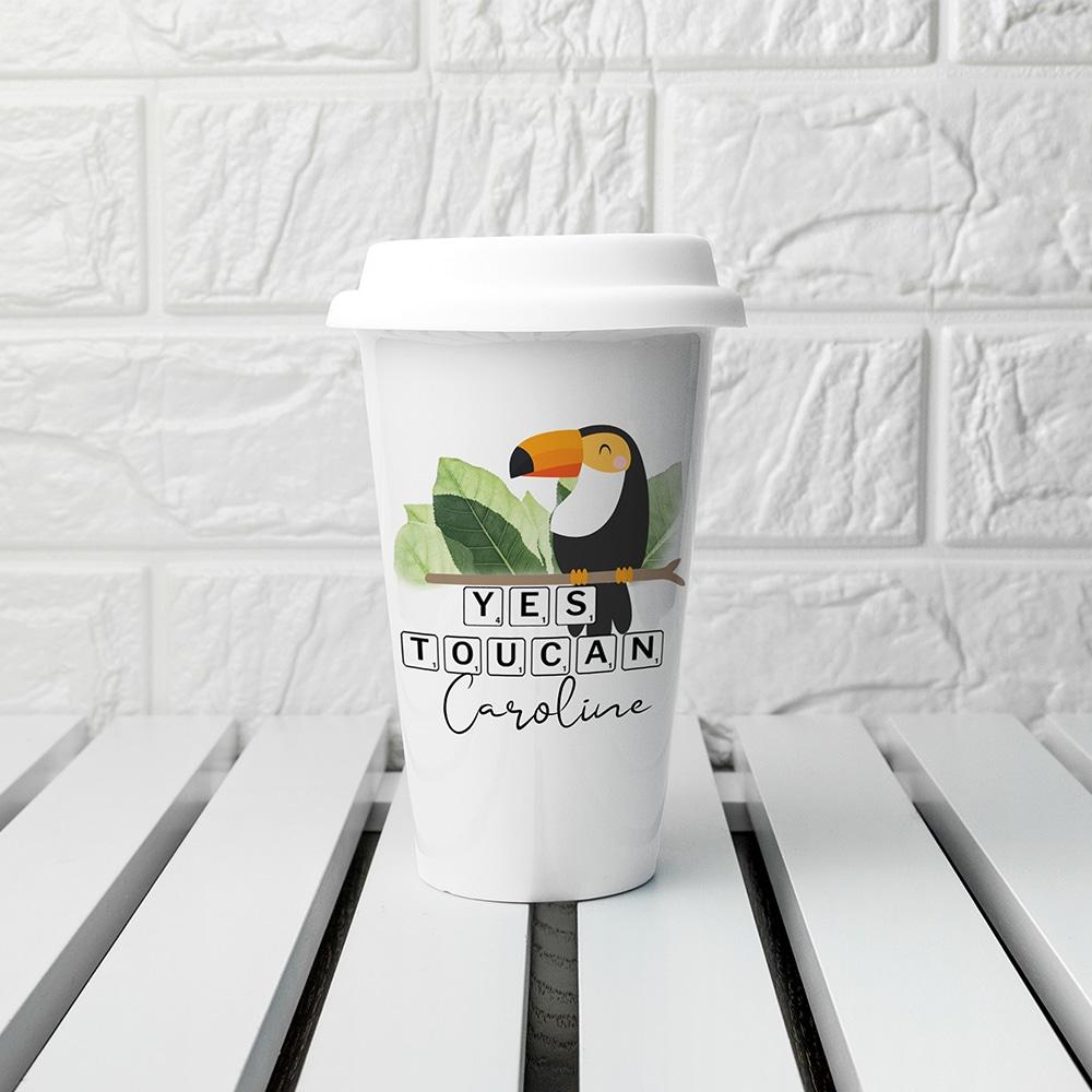Reisbeker Eco Gepersonaliseerd 'Yes TouCan'