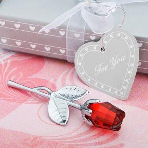 Kristallen Rode Roos Bedankjes