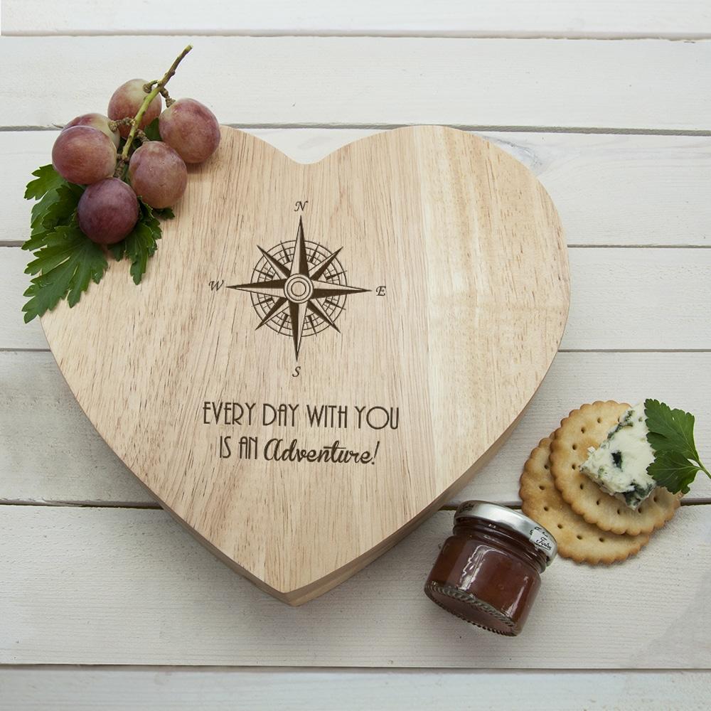 Romantisch Kompas Hart Kaasplank