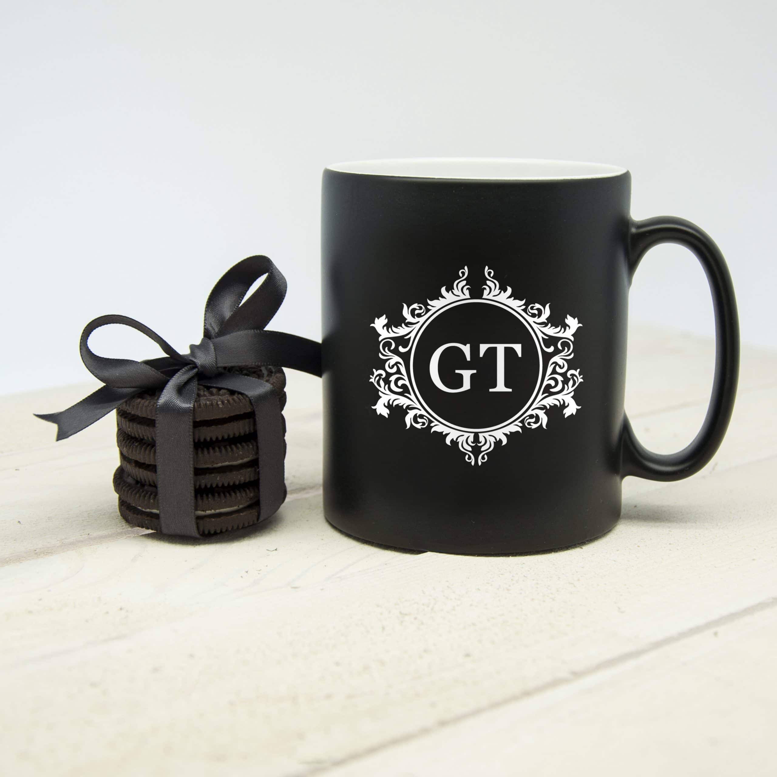 Gepersonaliseerde Koffiemok Floral Initial