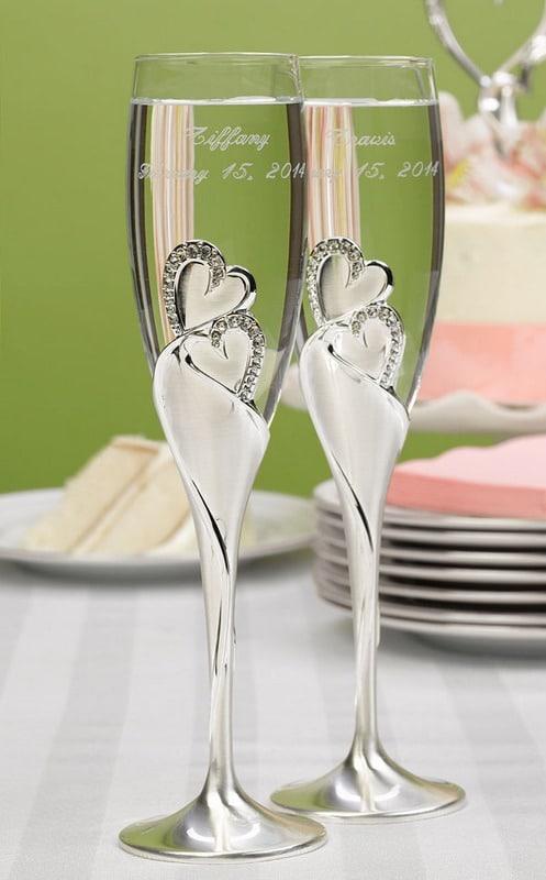 Fonkelnieuw Champagneglazen Sparkling Love - gravure mogelijk NJ-12