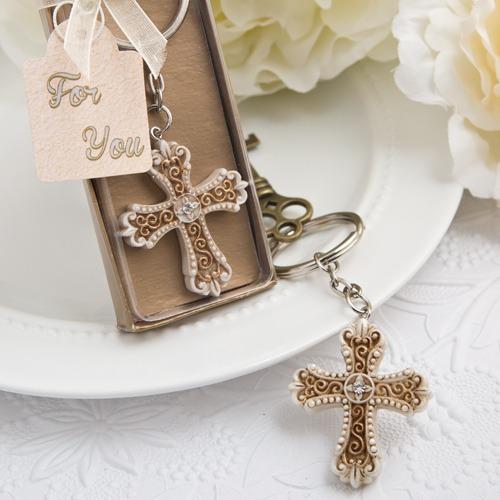 vintage kruis sleutelhanger