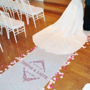Gepersonaliseerde Vintage Wedding Loper