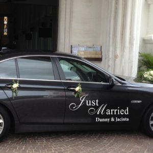 Statische sticker just married