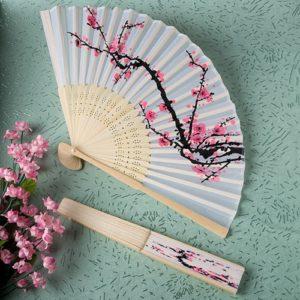Zijden Waaier Cherry Blossom Design